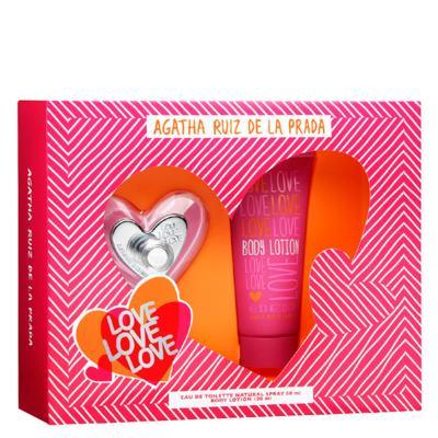 Imagem 1 do produto Love Love Love Agatha Ruiz de La Prada - Feminino - Eau de Toilette - Perfume + Loção Corporal - Kit