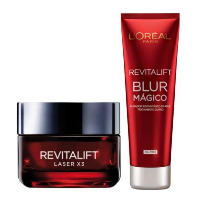 Creme Anti-idade Revitalift Laser X3 L'Oréal 50ml + Creme Facial Revitalift Blur Mágico L'Oréal 27g