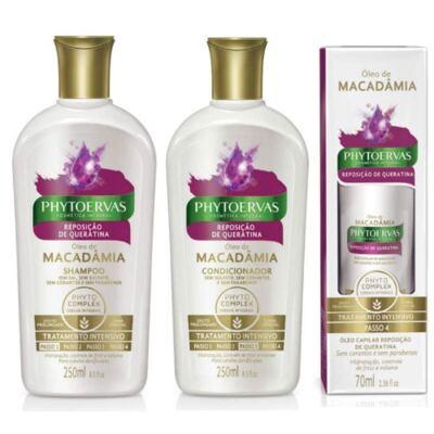 Imagem 1 do produto Compre Shampoo + Condicionador Phytoervas Reposição De Queratina e ganhe 50% de desconto no Óleo De Tratamento