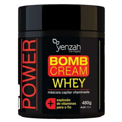 Yenzah Power Whey Bomb Cream - Máscara Capilar - 480g