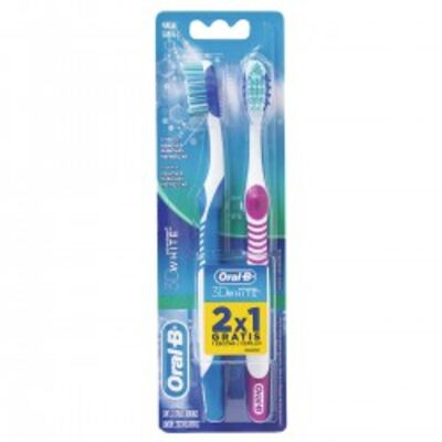 Escova Dental Oral-B 3D White Advantage 2 Unidades