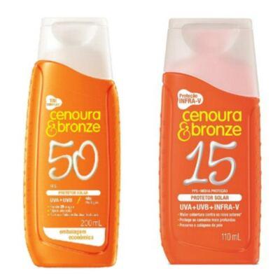 Imagem 1 do produto Compre Protetor Cenoura & Bronze FPS 50 e ganhe Protetor Com Cor FPS 15