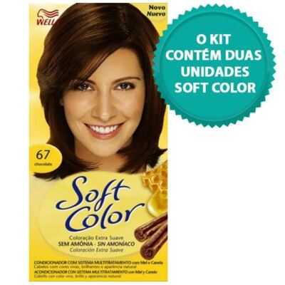 Imagem 1 do produto Tintura Soft Color Novo Chocolate 67 + Tintura Soft Color 67 Chocolate