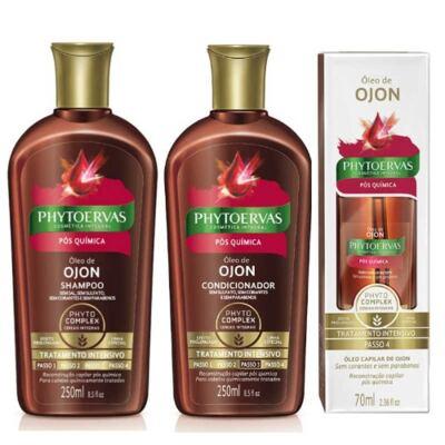 Imagem 1 do produto Compre Shampoo + Condicionador Phytoervas Pós-Química e ganhe 50% de desconto no Óleo De Tratamento