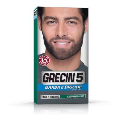 Imagem 1 do produto Tintura Grecin 5 Barba e Bigode Castanho Escuro