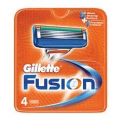 Carga Gillette Fusion - 4 unidades