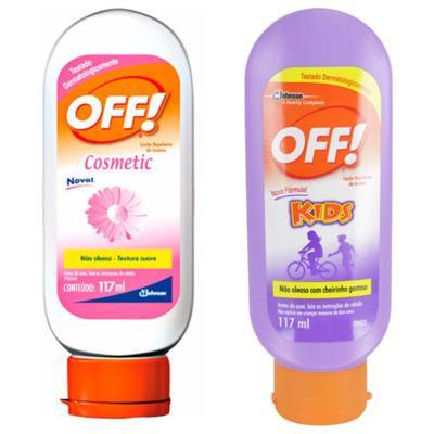 Repelente Off Kids 117ml + Repelente Off Cosmetic 117ml