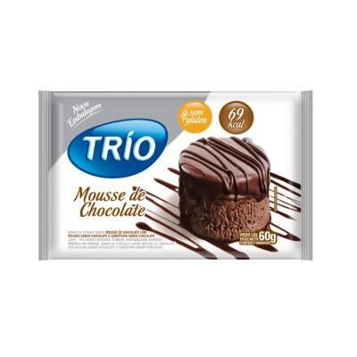 Barra de Cereais Trio Mousse de Chocolate Light 3 Unidades de 20g