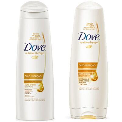 Imagem 1 do produto Kit Dove Óleo Nutrição Shampoo + Condicionador 400ml