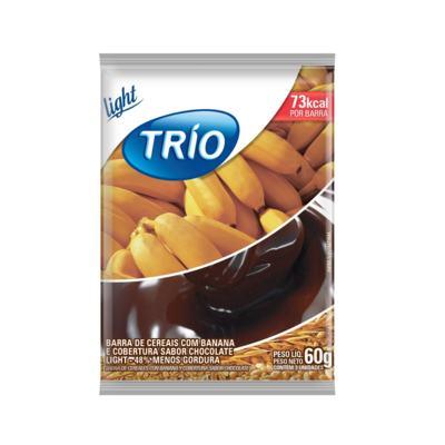 Barra de Cereais Trio Banana Aveia e Mel Light 20g 3 Unidades
