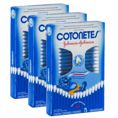 Imagem 1 do produto Kit 3 Cotonete Johnson's 225 Unidades