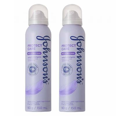 Desodorante Johnson´s Aerosol Protect Care 150ml 2 Unidades