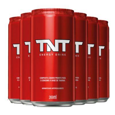 Imagem 1 do produto Kit Energético TNT Energy Drink Original 269ml 6 Unidades