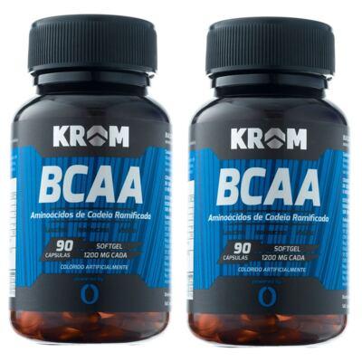 Suplemento BCAA Krom 90 Cápsulas 2 Unidades
