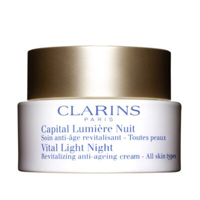 Tratamento Noturno para Luminosidade da Pele Clarins Vital Light Night Illuminating - 50ml