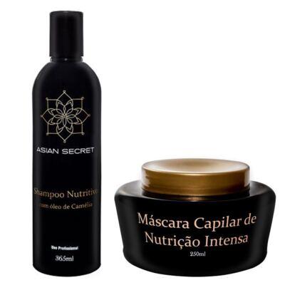 Imagem 1 do produto Kit Shampoo + Máscara Capilar Asian Secret Nutrição - Kit
