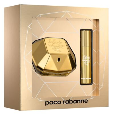 Imagem 1 do produto Lady Million Paco Rabanne- Feminino - Eau de Parfum - Perfume + Travel Spray - Kit