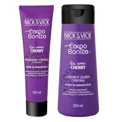 Imagem 1 do produto Corpo Bonito Cherry Nick & Vick - Kit Sabonete Liquido + Hidratante Corporal - Kit