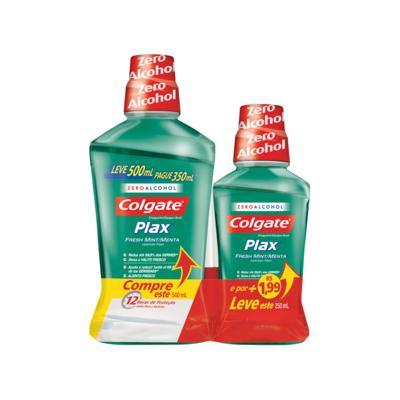 Imagem 1 do produto Antisséptico Bucal Plax Fresh Mint 500ml + 250ml
