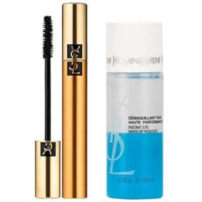 Kit Volume Effet Faux Cils Yves Saint Laurent - Máscara Volumizadora para os Cílios + Demaquilante - Kit