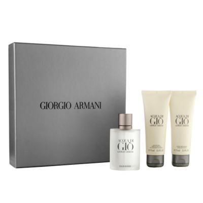 Imagem 1 do produto Acqua di Gio Giorgio Armani - Masculino - Eau de Toilette - Perfume + Gel de Banho + Loção Pós Barba - Kit