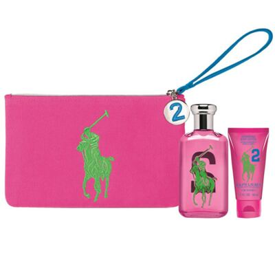 Polo Big Pony for Women Pink Ralph Lauren - Feminino - Eau de Toilette - Perfume + Loção Corporal - Kit