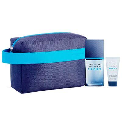 Imagem 1 do produto L'eau D'Issey Pour Homme Sport Issey Miyake - Masculino - Eau de Toilette - Perfume + Shampoo + Nécessaire - Kit