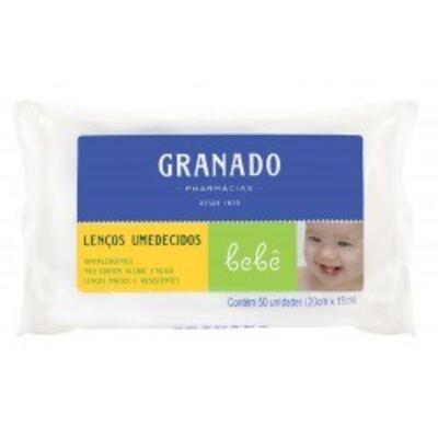Imagem 1 do produto Lenços Umedecidos Granado Bebê Tradicional C/ 50 Unidades