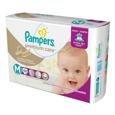 Imagem 20 do produto Kit 3 Fraldas Pampers Premium Care Mega M 144 Unidades