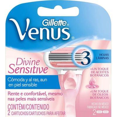 Imagem 1 do produto Carga para Aparelho Gillette Venus Divine Sensitive 2 Unidades