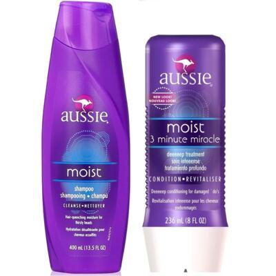 Imagem 12 do produto Aussie Moist Shampoo 400ml + Aussie Moist Tratamento Capilar 3 Minutos Milagrosos 236ml