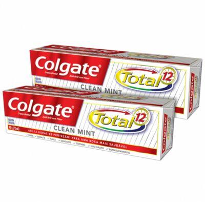 Imagem 2 do produto Kit Creme Dental Colgate Total 12 Clean Mint 90g 2 Unidades