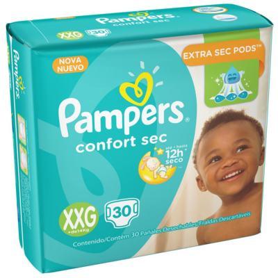 Imagem 1 do produto Fralda Pampers Confortsec - Mega XXG | 30 unidades