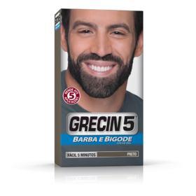 Grecin 5 Barba e Bigode Gel Tonalizante - Preto   120ml