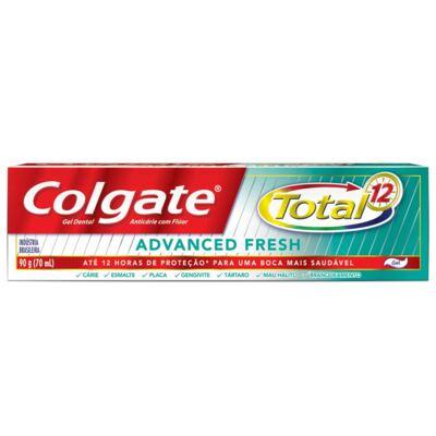Imagem 2 do produto Creme Dental Colgate Gel Total 12 Advanced Fresh 90g