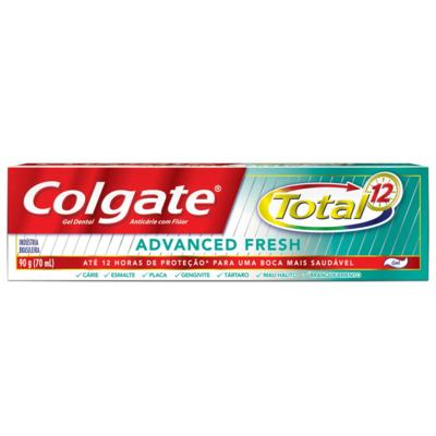 Imagem 2 do produto Creme Dental Colgate Gel Total 12 Advanced Fresh 90g