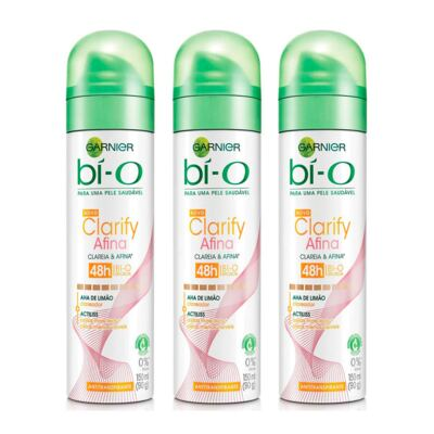 Imagem 1 do produto Kit Desodorante Aerosol Bí-o Clarify Afina E Clareia Feminino 150ml 3 Unidades