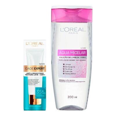 Kit L'Oréal Água Micelar 200ml + Creme Antissinais Idade Expert 35+ 40ml