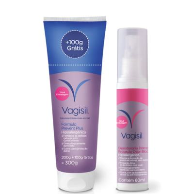 Kit Vagisil Sabonete Líquido Íntimo Prevent Plus 300g + Desodorante Íntimo 60ml