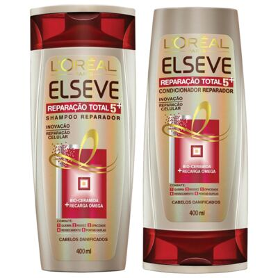 Kit Elseve Reparaão Total 5 Shampoo 400ml + Condicionador 400ml