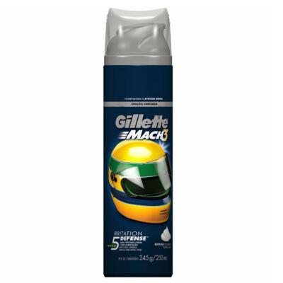 Imagem 3 do produto Kit Gillette Aparelho Barbeador Mach3 + Espuma de Barbear Mach3 Sensitive 245g + Carga Mach3 Sensitive 6 Unidades