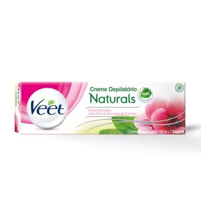 Kit Creme Depilatório Veet - Naturals Peles Delicadas Com Óleo de Semente de Camélia   100ml