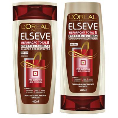 Kit Elseve Shampoo e Condicionador Total 5 Química 400ml