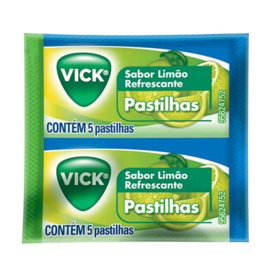Pastilhas Vick Limão 5 Unidades