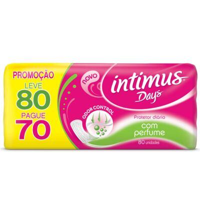 Imagem 3 do produto Kit Intimus Protetor Diário Intimus Days Odor Control Com Perfume 80 Unidades + Sabonete Líquido Íntimo Suave 200ml