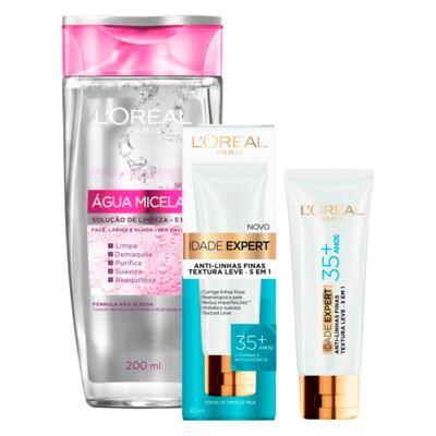 Kit L'oréal água Micelar 5 Em 1 200ml + Creme Antissinais Idade Expert 35+ 40ml