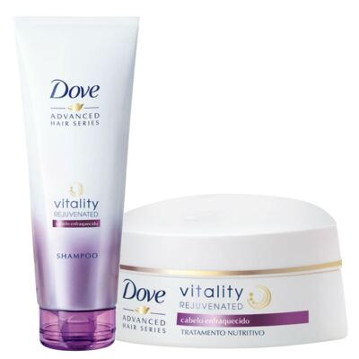 Imagem 1 do produto Kit Dove Vitality Rejuvenated Shampoo 200ml + Creme De Tratamento Capilar 350g