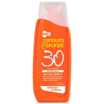 Imagem 3 do produto Kit Protetor Solar Cenoura & Bronze FPS 30 200ml + Protetor Facial FPS 70 50g