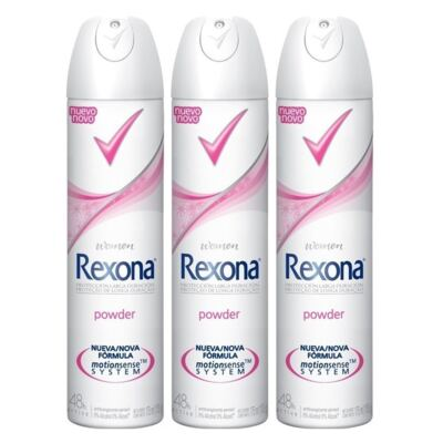 Imagem 1 do produto Kit Desodorante Aerosol Rexona Powder Feminino 105ml 3 Unidades