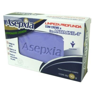 Sabonete Cremoso Natural Adstringente Asepxia - 90g
